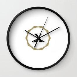 Vintage Letter X Monogram Wall Clock