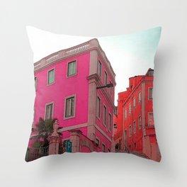 Pink City 2 Throw Pillow