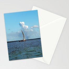 Sailboat Horizon Seascape Cloudy Sky Stationery Cards