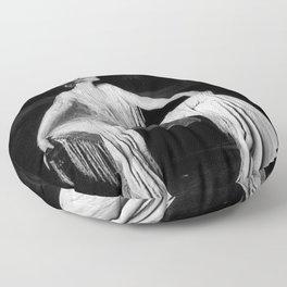 Muriel Finlay, Ziegfeld Follies Jazz Age black and white photograph Floor Pillow