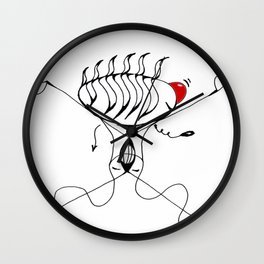 CLOWN NOSE Wall Clock