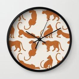 Leopard Block Party Wall Clock