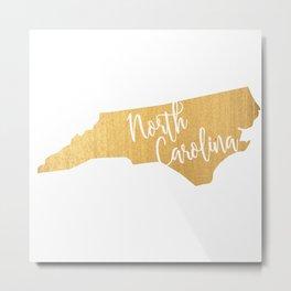 North Carolina gold Metal Print