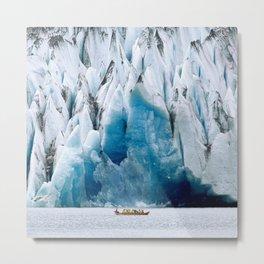 Ride to the Alaskan Glacier Metal Print