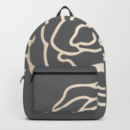 Rose White Gold Sands on Storm Gray Backpack