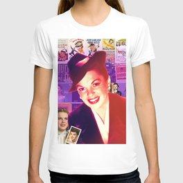 Judy Garland Collage Portrait T-shirt