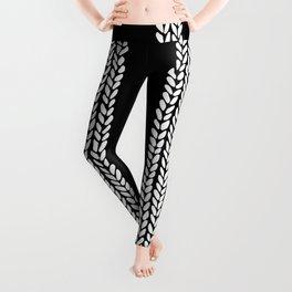 Cable Black Leggings