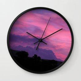 Colorful Sunset Sunrise Sky Countryside Landscape Wall Clock