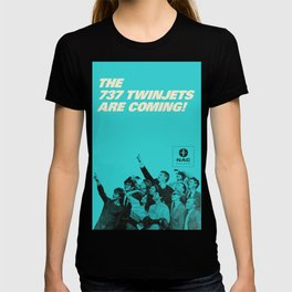 737 Twinjets Vintage Travel Poster T-shirt
