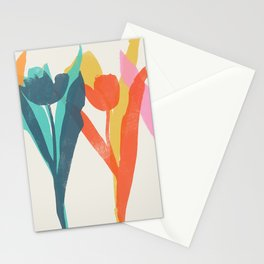 tulips 2 h Stationery Cards