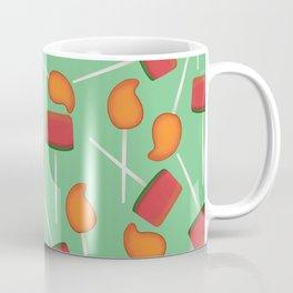 Fun digital Mexican paletas pattern green Coffee Mug