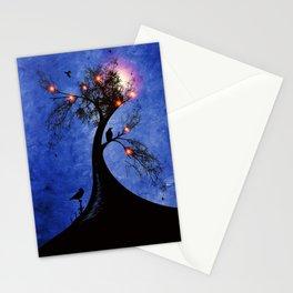 Raven christmas II - HOLIDAZE Stationery Cards