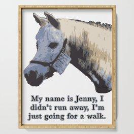 Jenny the Horse Serving Tray