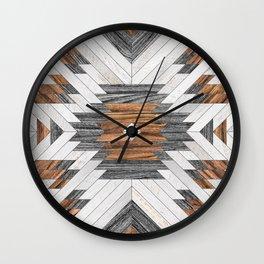 Urban Tribal Pattern No.8 - Aztec - Wood Wall Clock