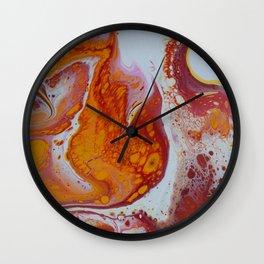 Amber Visions Wall Clock
