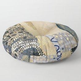 Gustav Klimt - The Hydra - Digital Remastered Edition Floor Pillow