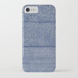 The Rosetta Stone // Navy Blue iPhone Case