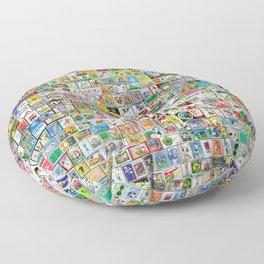 Soccer Stamps Floor Pillow