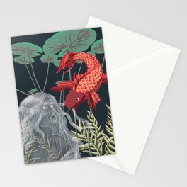 The Fish and the Water Nymph Stationery Cards