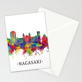 Nagasaki Japan Skyline Stationery Cards