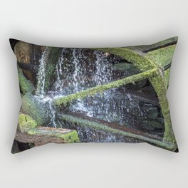 Water Wheel - Old Saw Mill Wheel on Autumn day in the Great Smoky Mountains Rectangular Pillow