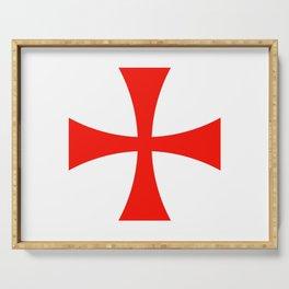 Knights Templar cross Serving Tray