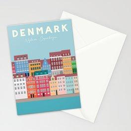 Denmark, Nyhavn, Copenhagen Travel Poster Stationery Cards