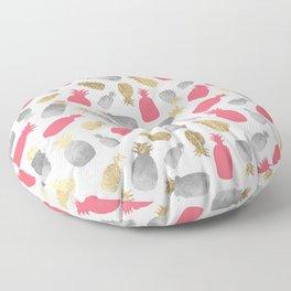 Tropical pink gold silver elegant pineapple pattern Floor Pillow