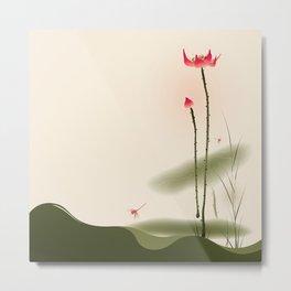 Oriental Lotus 002 Metal Print