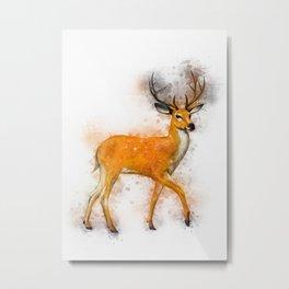 Deer Art Metal Print