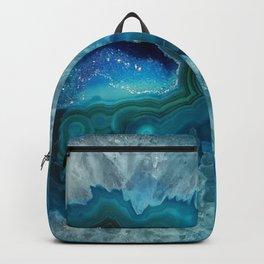 Teal Druzy Agate Quartz Backpack