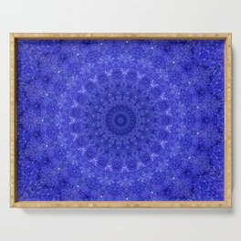 Cosmos Mandala II Cobalt Blue Serving Tray