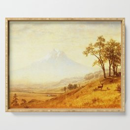 Mount Hood 1863 By Albert Bierstadt | Reproduction Painting Serving Tray