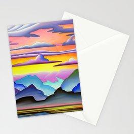 Colorful Coast Sunset Stationery Cards