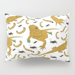Large Bearded Dragon pattern Pillow Sham
