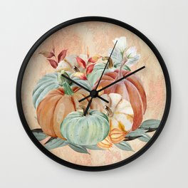 Watercolor Pumpkin Collection: Fall Harvest Wall Clock