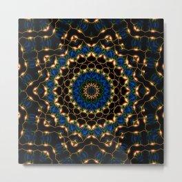 Streams Light Mandala Metal Print