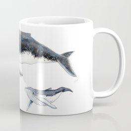 Humpback whale mother and humpback whale baby Coffee Mug