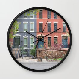 River North Row House Wall Clock