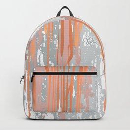 Abstract ink. Gray. metallic. orange. abstract. .minimalist. line. minimalism. lines. Backpack