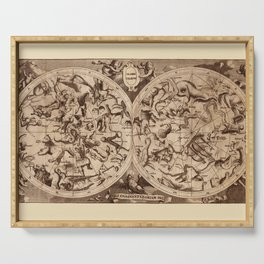 Constellation Map 1734 Serving Tray