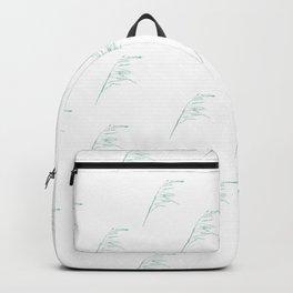 White leaf pattern  Backpack