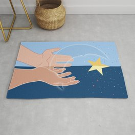 The moon and the stars for you-Fantasy-Surreal Rug
