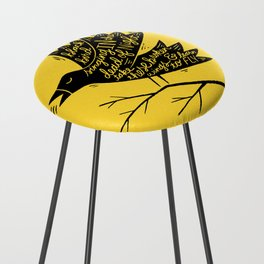 black bird Counter Stool