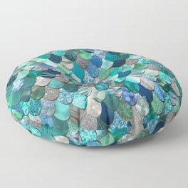 Mermaid Art, Sea,Teal, Mint, Aqua, Blue Floor Pillow