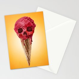ICE CREAM SKULL Stationery Cards