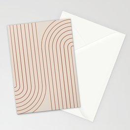 Minimal Line Curvature VI Stationery Cards
