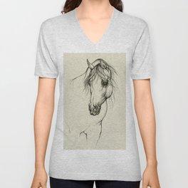 Arabian horse portrait Unisex V-Neck