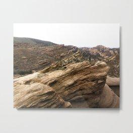 Hiking at Vasquez Rocks Metal Print