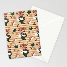 Mermaid Sushi Stationery Cards